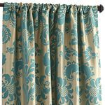 Calibri Damask Curtain - Teal