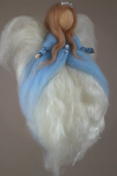 Needle Felted Angel Guardian Angel Christmas by CloudBerryCrafts, $34.00