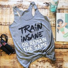 Workout Tank Workout Clothes Gym Tank Funny Workout Tank Running Tank... ($20) ❤ liked on Polyvore featuring activewear, activewear tops, grey, tanks, tops, women's clothing, grey shirt, racer back shirt, racerback shirt and workout shirts