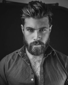 If you think your beard is part of your personality, then you must try this best Men Short Beard and Mustache style model from the gallery picture that we already collect from internet Beard And Mustache Styles, Beard No Mustache, Hair And Beard Styles, Great Beards, Awesome Beards, Hairy Men, Bearded Men, Bart Styles, Sexy Bart