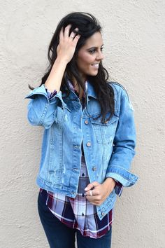 Winter Blues Denim Jacket from Shop Southern Roots TX