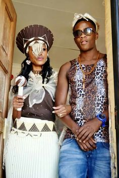 South African wedding African Traditional Wedding Dress, Traditional Wedding Attire, African Wedding Dress, Traditional Dresses, Traditional Weddings, African Attire, African Wear, African Women, African Dress