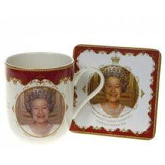 Queen's Diamond Jubilee Mug & Coaster Set