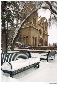 Santa Fe in the snow