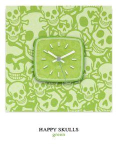 Happy Skulls green