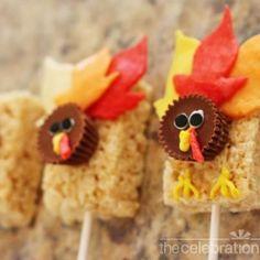 Rice Krispies Thanksgiving Turkey Treats {Thanksgiving Recipes}