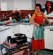 Shop retro vintage housewife in kitchen & turkey postcard created by TO_photogirl. Christmas Past, Retro Christmas, Vintage Holiday, Christmas Kitchen, Christmas Music, Christmas Photos, Christmas Cooking, Xmas Music, Christmas Turkey