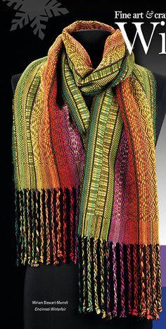 Miriam Stewart-Murrell. Colorful handwoven scarf.