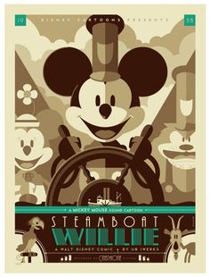 """Modern vintage"" Disney poster - by Tom Whalen"