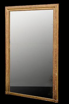 Early 19th Century Parcel Giltwood Mirror With Original Glass