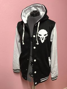 Reaper Overwatch Inspired Varsity Hoodie Jacket by CakeShopCouture on Etsy