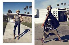 Harper's Bazaar - Chic Easy Pieces   Lachlan Bailey - Photographer; Brana Wolf - Fashion Editor/Stylist; Akki Shirakawa - Hair Stylist; Francelle Daly - Makeup Artist; Colin Donahue - Set Designer; Bette Franke - Model