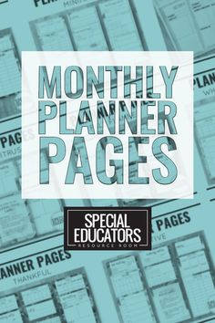 Stay organized with these monthly planning toolkits! Designed especially for busy special educators. #specialeducators #planning #classroomorganization