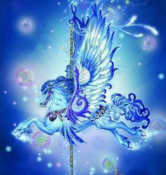 Pegasus Carousel Horse **