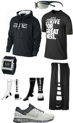 Black and white nike outfit