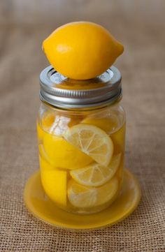 Homemade Meyer lemon infused vodka on simplebites.net