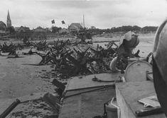 View of Juno Beach near Courseulles-sur-Mer, june 11, 1944