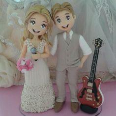 Custom Wedding Cake Toppers, Wedding Topper, Wedding Bride, Wedding Cakes, Cute Cartoon Characters, Couple Cartoon, Fondant Figures Tutorial, Love Cake Topper, Cake Decorating With Fondant