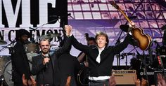 Ringo Starr recruited Paul McCartney, Joe Walsh, Edgar Winter and Steve Lukather for his new all-star track We're on the Road Again.