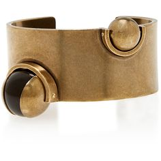 Tomas Maier Small Gold Cuff ($760) ❤ liked on Polyvore featuring jewelry, bracelets, cuff jewelry, tomas maier, beading jewelry, yellow gold jewelry and yellow gold bangle