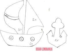 Design Lembranças Blog: Molde barco+âncora de feltro