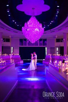 Romantic First Dance with over 500 live candles surrounding the couple. Floral and Decor by Weddings By Dzign Las Vegas Photography: Orange Soda Photograhy. Venue: Tropicana Las Vegas Havana Room