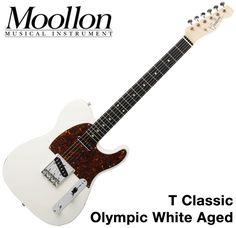 Moollon T Classic Telecaster White Aged 60's Vintage Sound Tele Electric Guitar #Moollon