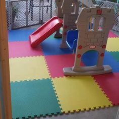 Playmat foam puzzle flooring is perfect for both home and school use. Available in a four pack to ensure that you get enough for your room. Foam Floor Tiles, Foam Flooring, Basement Floor Plans, Basement Flooring, Toy Organization, Organizing Toys, Puzzle Mat, Kids Play Area, Up Game