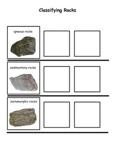 classifying rocks worksheet 1000 images about science on force and ...