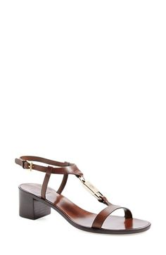 Tory Burch 'Padlock' Leather Sandal (Women) available at #Nordstrom