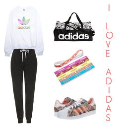 """""""I❤️ADIDAS"""" by madelinely ❤ liked on Polyvore featuring adidas, Topshop and adidas Originals"""