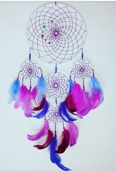 Pink dreamcatcher by special order! Handcrafted handmade instagram/asiczary