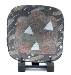 Lot 748 - JOHN MALTBY (born a square stoneware footed dish decorated with a stylised landscape,JOHN MALTBY (born a square stoneware footed dish decorated with a stylised landscape, painted mark, 24 x (D) The Saleroom, Ceramic Artists, Trays, Stoneware, Two By Two, Auction, Dish, Pottery, Plates