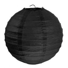 Lanternes Boule Chinoise Papier Noir 30 cm les 2