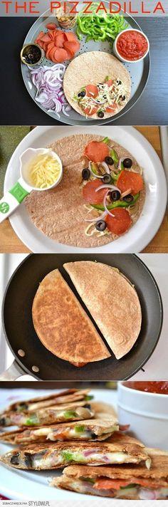 Quesadilla: tortilla, ser(mozzarella), plastry pepperon… na Stylowi.pl