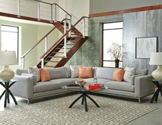 What a beautiful sectional? What do you think? Could you picture it in your home? #Furniture #Style #Design