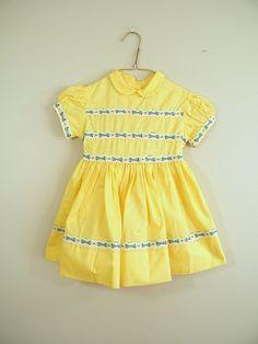 Vintage baby / toddler dress, 1950's.