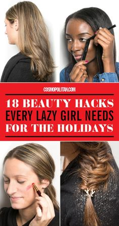 18 Holiday Beauty Hacks – Lazy Girl Holiday Makeup Tips - Site Beauty Hacks Lazy, Beauty Hacks Nails, Beauty Hacks For Teens, Makeup Hacks, Makeup Routine, Eyeliner Hacks, Lipstick Tricks, Eyeshadow Tips, Makeup Tutorials