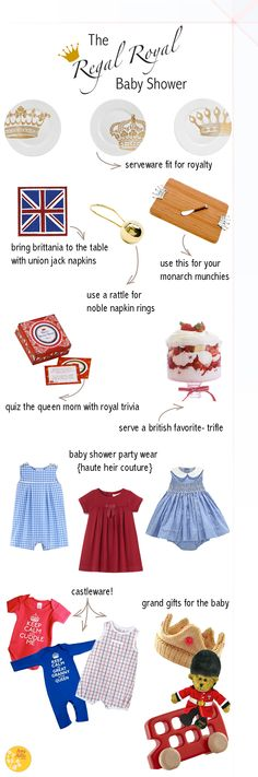How to Throw a Regal Royal Baby Shower  #royalbaby Check out the Best of British Set: http://www.tommeetippee.us/best-of-british/ #tommeemommee