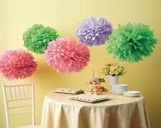 Color Burst Pom-Poms