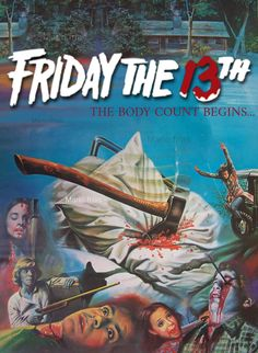 Friday the 13th Horror Movie Slasher Poster Re edit poster