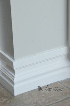 Making baseboards taller the easy way