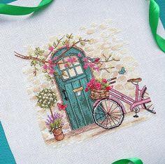 Photo Monogram Cross Stitch, Cross Stitch Pillow, Cross Stitch Art, Cross Stitching, Cross Stitch Embroidery, Modern Cross Stitch Patterns, Cross Stitch Designs, Free Motion Embroidery, Hand Embroidery