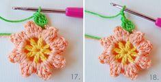 Tutorial #62: Paso a Paso Cojín de Flores ~ CTejidas [Crochet y Dos Agujas]