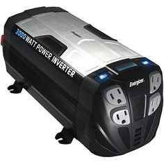 ENERGIZER 3000 Watt Power Inverter converts 12V DC from car's battery to 120 Volt AC with 2 USB ports 2.1A shared compatible with iPad iPhone - http://www.discountbazaaronline.com/energizer-3000-watt-power-inverter-converts-12v-dc-from-cars-battery-to-120-volt-ac-with-2-usb-ports-2-1a-shared-compatible-with-ipad-iphone/