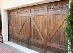 ALPINE DESIGN SOLID CEDAR WOOD GARAGE OVERHEAD DOOR 8u0027x7u0027