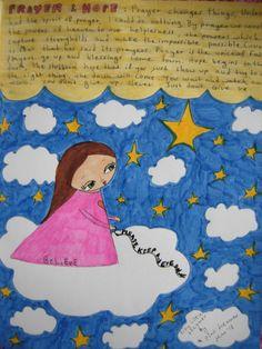 Tiny Little Dreamer/about hope and prayer art print by eltsamp, $20.00