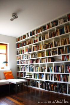 And that is the perfect furniture my room requires - Houses interior designs Home Library Design, House Design, Library Bar, Library Room, Floor To Ceiling Bookshelves, Wall Of Bookshelves, Creative Bookshelves, Bedroom Shelves, Bookshelf Design