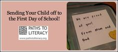 Fun ideas for sending your child who is blind or visually impaired off to their first day of school!