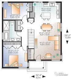 Détail du plan de Maison unifamiliale W3129-V1